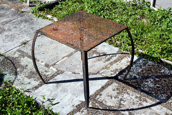 Restoring A Steel Outdoor Table